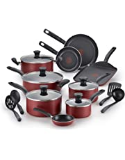 T-fal A777SI64 Initiatives Nonstick Inside and Out Dishwasher Safe Cookware Set