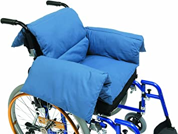 Drive Medical RT-CU009 - Cojín en T para silla de ruedas, color azul