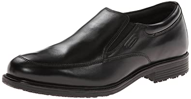 Rockport Men's Lead the Pack Slip-On Black WP Leather 6.5 W (EE)