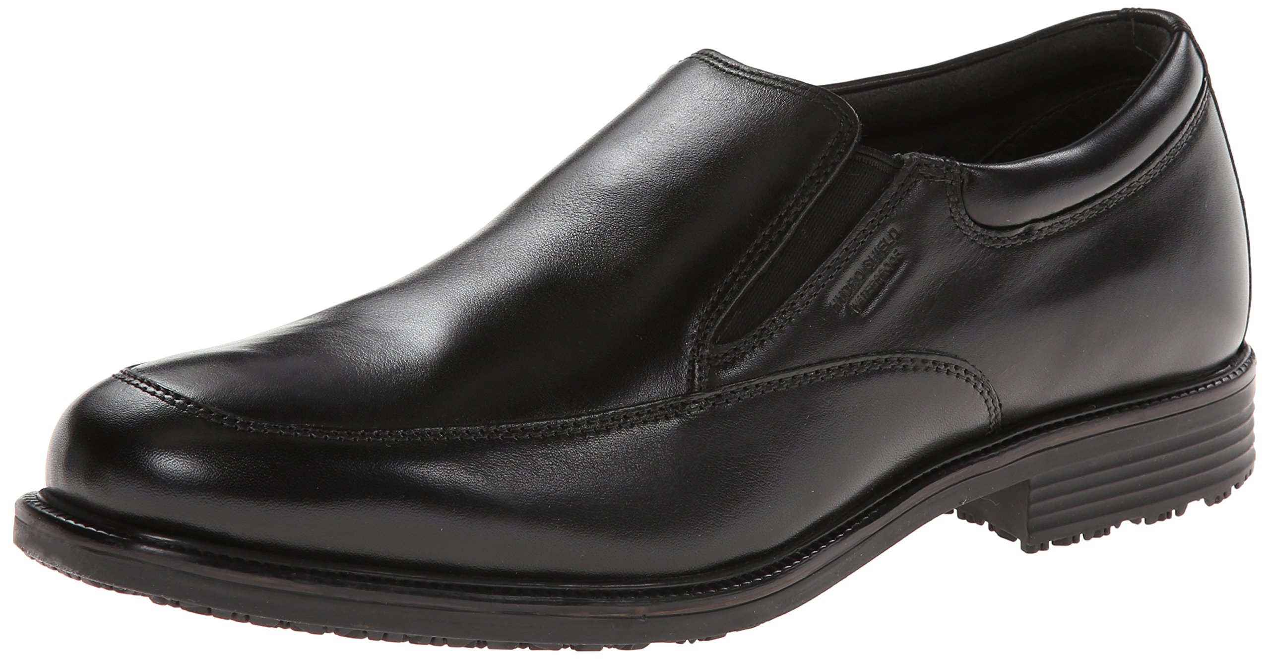 Rockport Men's Lead the Pack Slip-On Black WP Leather 11 W (EE)-11 W