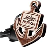 Schlüsselanhänger ANKER aus Holz Vorgraviert: Lieblingsmensch!