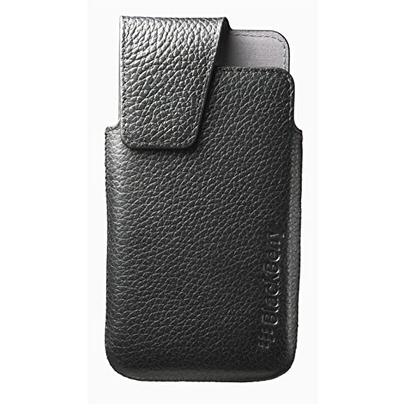 brand new 384a7 23dcb BlackBerry Leather Swivel Holster for BlackBerry Z10 - Black