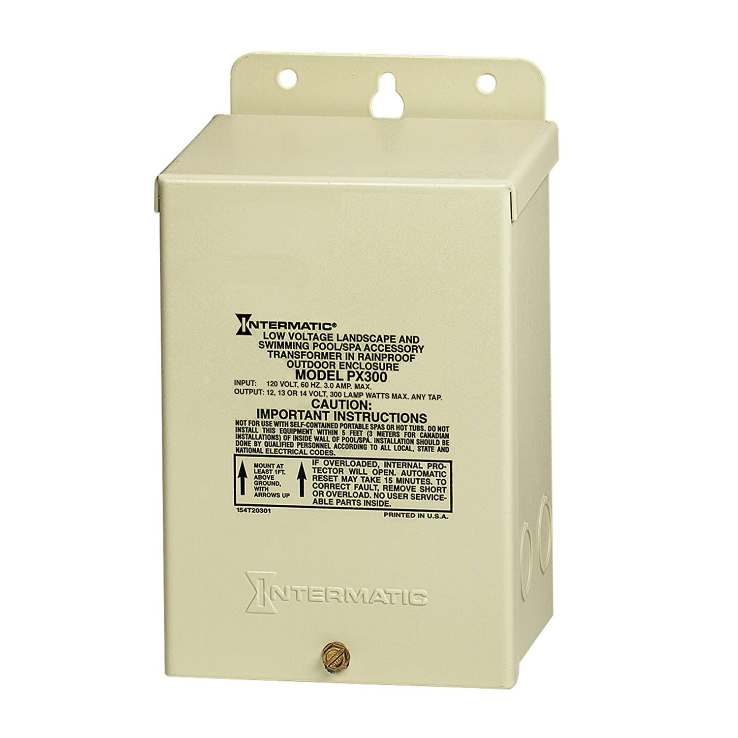 Amazon.com : Intermatic PX300 12V 300W Transformer with Automatic Circuit  Breaker : Pool Transformer : Garden & Outdoor
