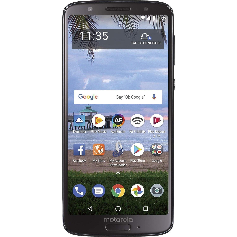 TracFone Motorola Moto G6 4G LTE Prepaid Smartphone (Locked) - Black - 16GB - Sim Card Included - CDMA