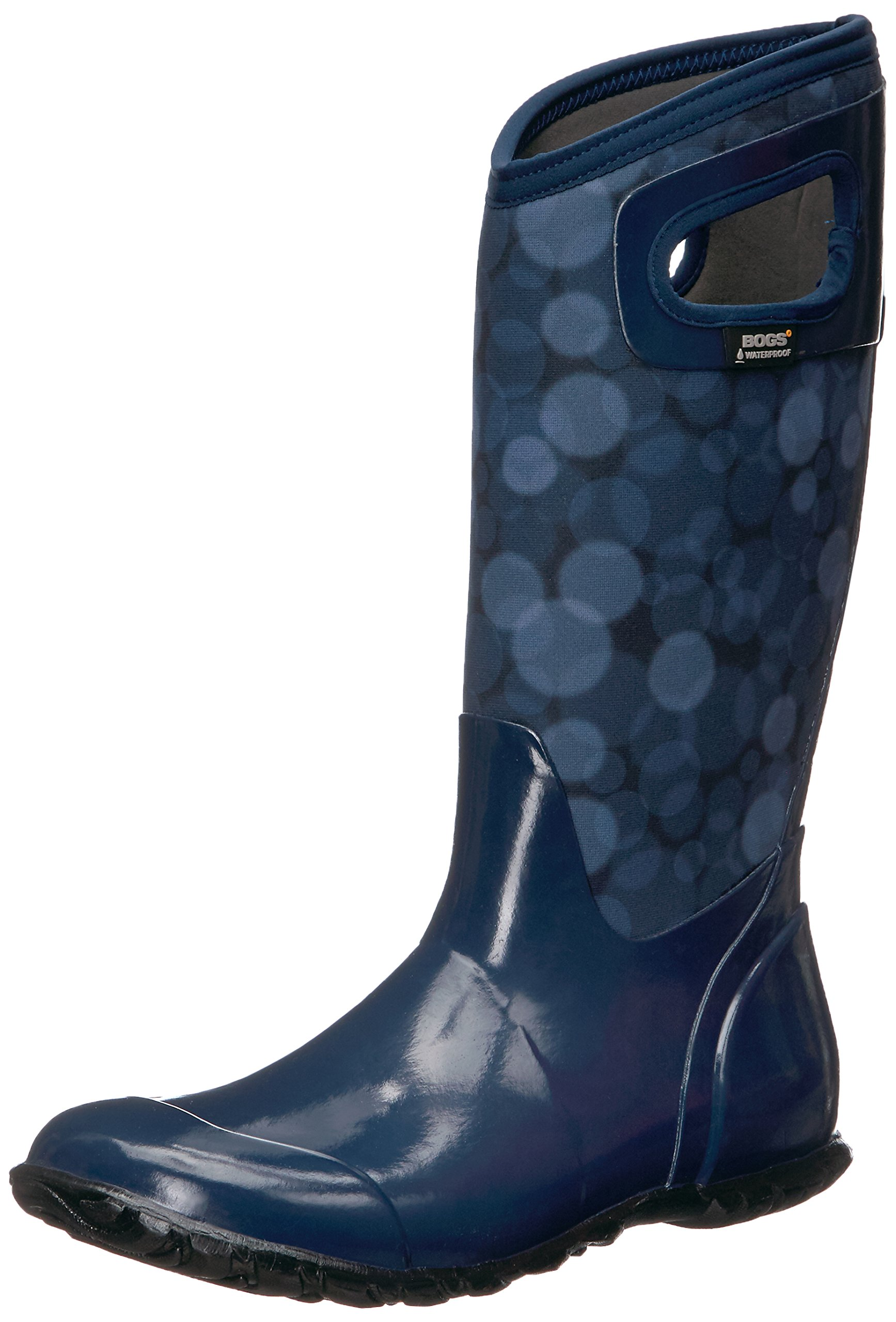 Bogs Women's North Hampton Rain Snow Boot, Dark Blue/Multi, 8 M US by Bogs