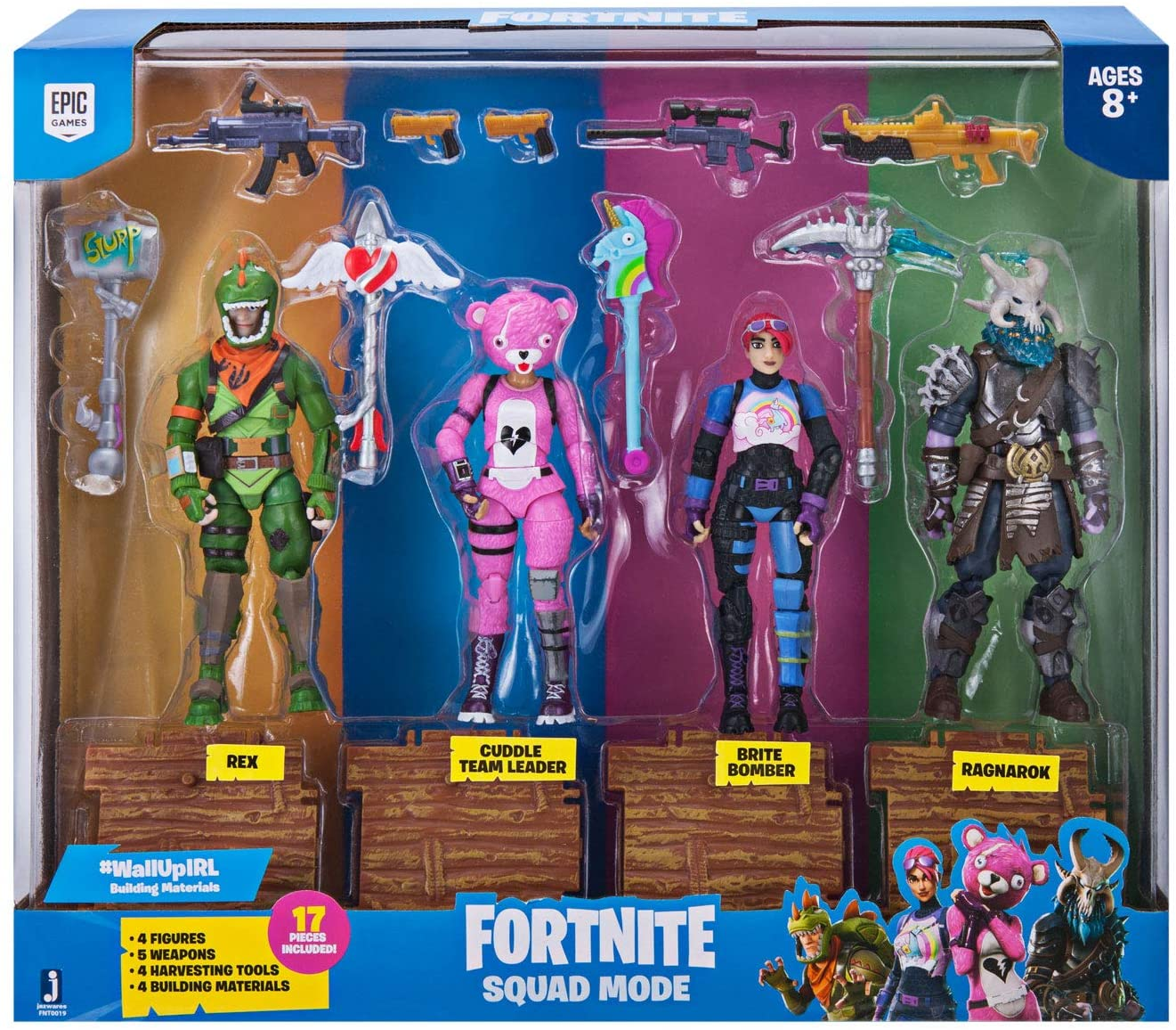 Amazon Com Fortnite Squad Mode 4 Figure Pack Series 1 Toys Games