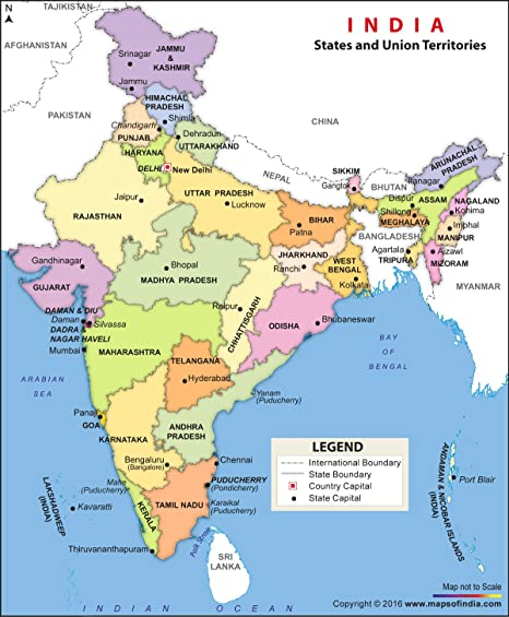 Patna In India Map.Vinyl Print Political Map Of India 48x 39 92 Inches Maps Of India