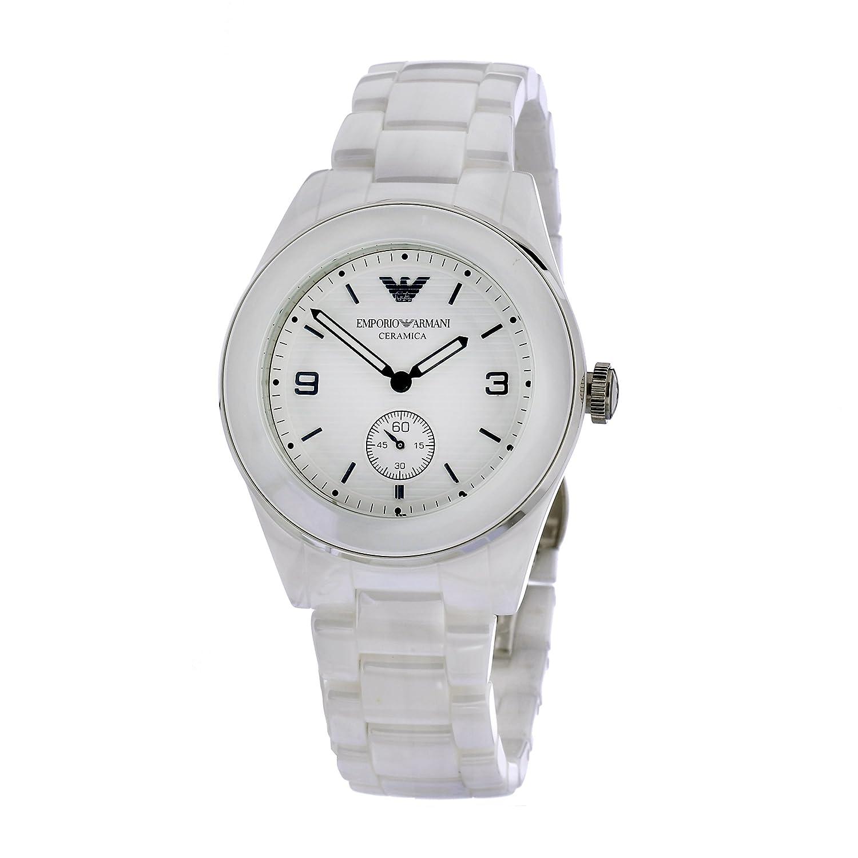 Amazon.com: Emporio Armani Womens AR1425 White ceramic case ...
