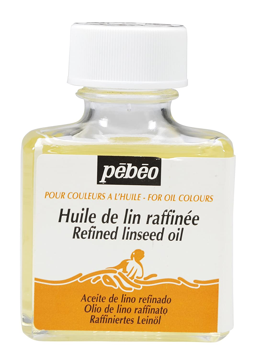 Pebeo Refined Linseed Oil Thinner for Paints, 75ml Bottle Pebeo Fabricant de Couleurs 650101