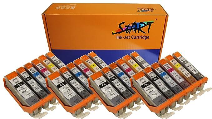 150 opinioni per Start- 24 XL CHIP Cartucce compatibili per Canon PGI-550BK XL Nero, CLI-551BK XL