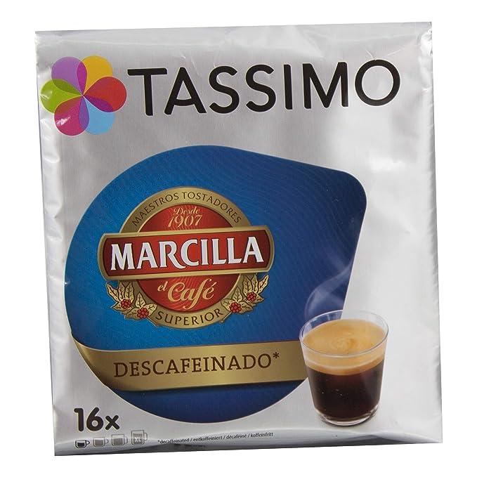 Tassimo Café Marcilla Descafeinado - 80 Cápsulas (T DISCs) compatibles con cafeteras Tassimo Bosch