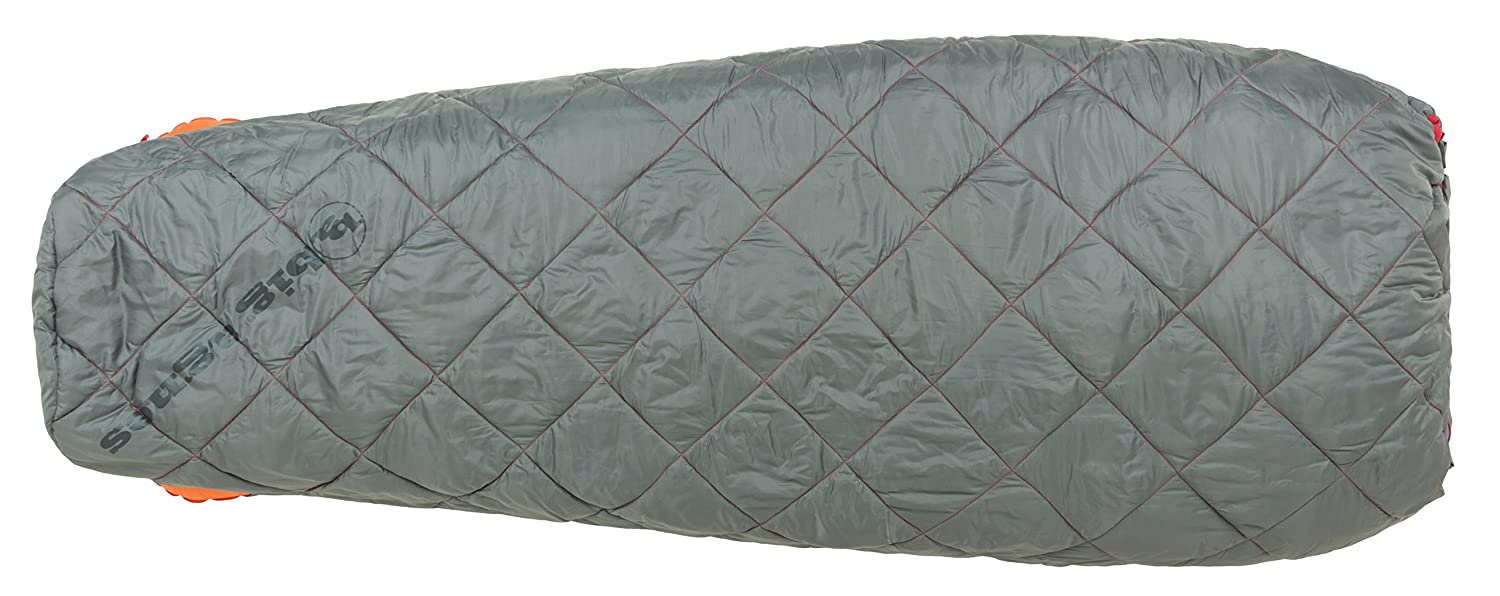 Big Agnes – Cross Mountain 45 Sleeping Bag with insotectホットストリームFill B01N5LSQVX Long/Right Zip|グレー グレー Long/Right Zip