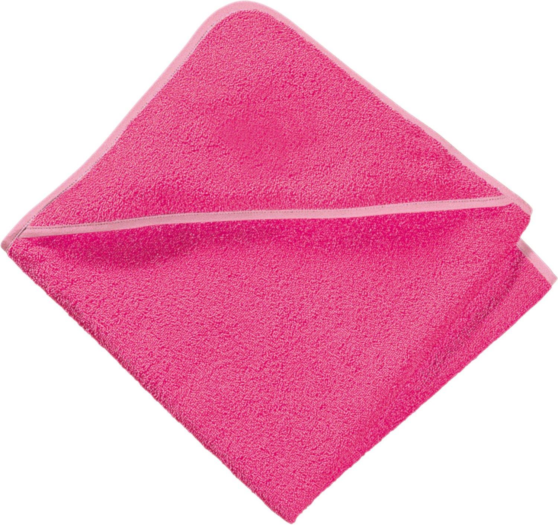 Baby Butt Kapuzenbadetuch Frottier pink Größe 80x80 cm 04310