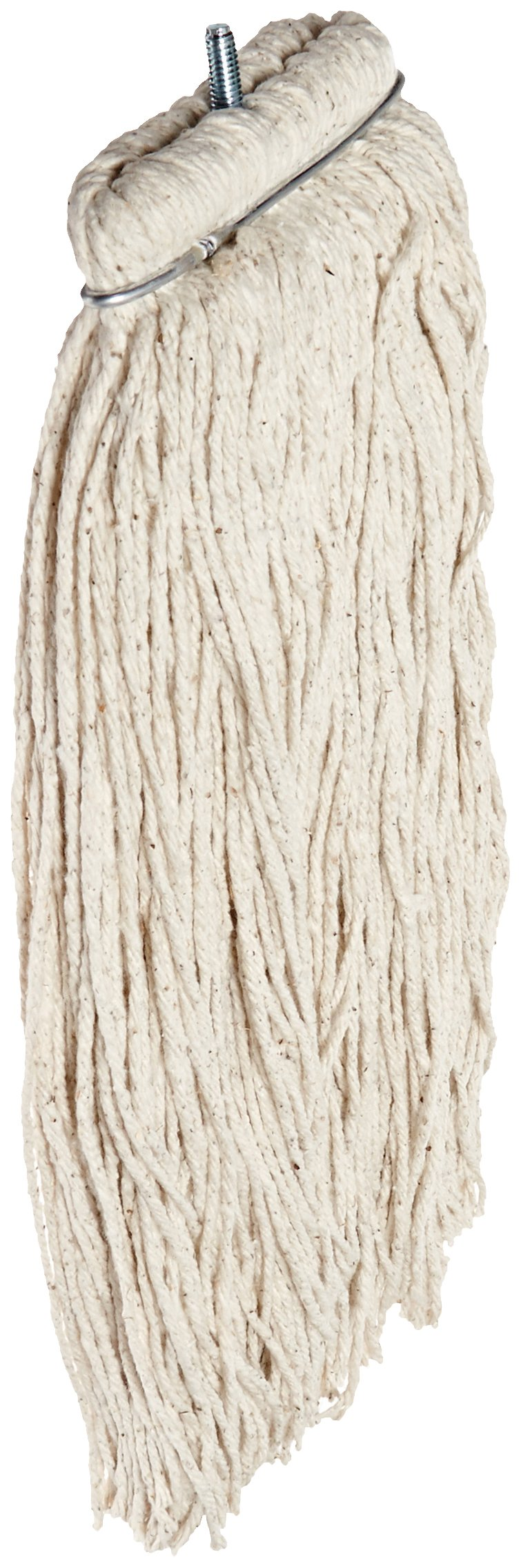 Impact 12120 Layflat Screw Type Cut End Cotton Wet Mop Head, Regular, 20 oz, White (Case of 12)