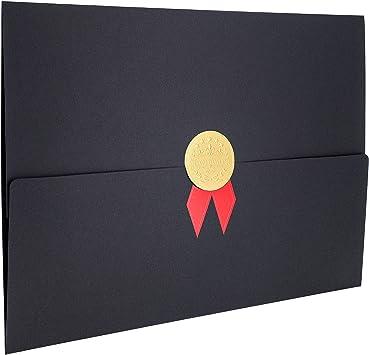 12/unidades/ documento azul 22/x 30,8/cm /Soporte para certificado de Diploma Cover para A4/tama/ño carta premio certificados