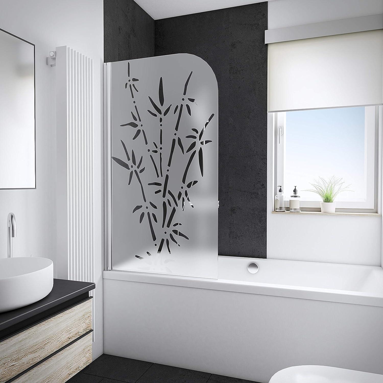 Pare bañera rabattable Schulte, mampara de bañera plegable 80 x 140 cm, pantalla de bañera 1 contraventana giratoria, pare-douche Décor Bamboo, perfil aspecto cromado: Amazon.es: Bricolaje y herramientas