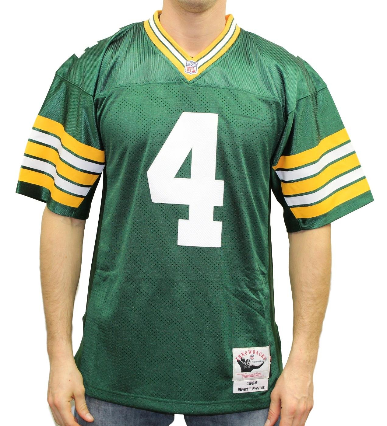 outlet store 9c3ef e58c3 Amazon.com : Mitchell & Ness Brett Favre 1996 Authentic ...