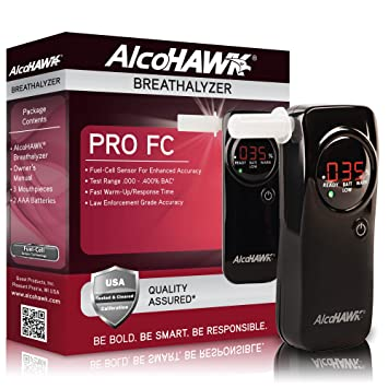 Amazon Com Alcohawk Pro Fc Fuel Cell Breathalyzer Digital Breath