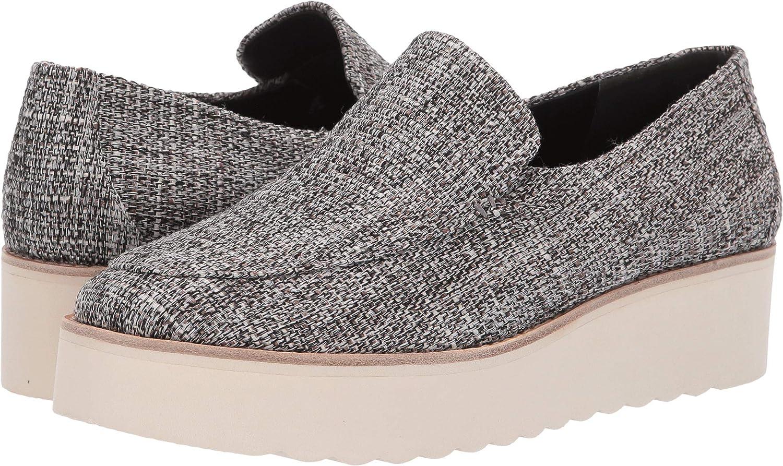 Natural Black Linen Fabric Vince Women's Zeta Platform Loafers