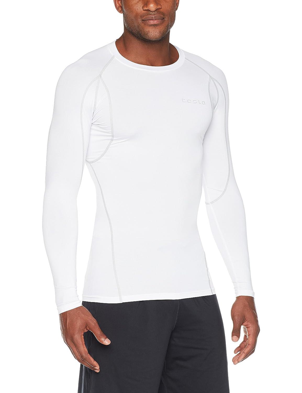 (テスラ)TESLA オールシーズン 長袖 ラウンドネック スポーツシャツ [UVカット吸汗速乾] コンプレッションウェア パワーストレッチ アンダーウェア R11 / MUD01 / MUD11 B078GZ5DHF X-Large|Z5-TM-MUD11-WHT Z5-TM-MUD11-WHT X-Large