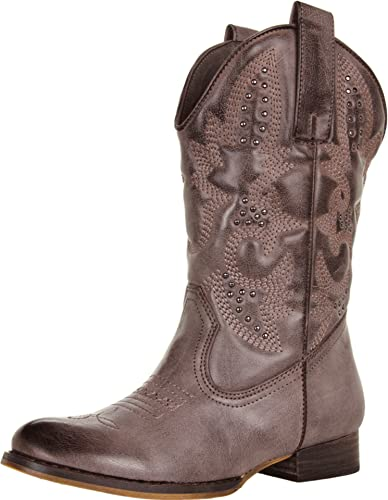 Volatile Girls Grit Cowboy Fashion Boots,Brown,10