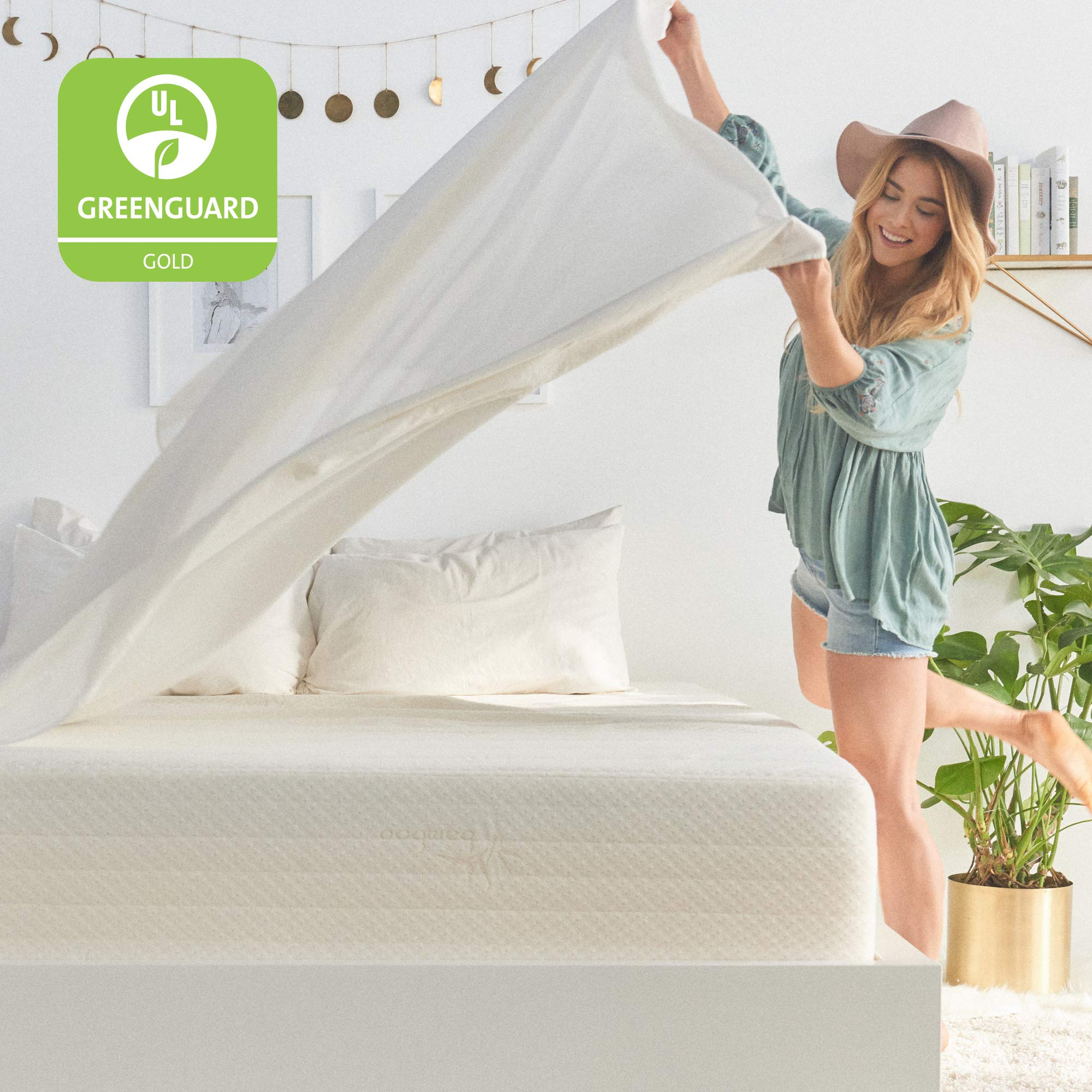 Brentwood Home Cypress Mattress, Greenguard Gold & CertiPUR Certified Non Toxic, Soft Eco Cover, Cool Gel Memory Foam, 25-Year Warranty, Made in California, 13-Inch, Twin XL Size