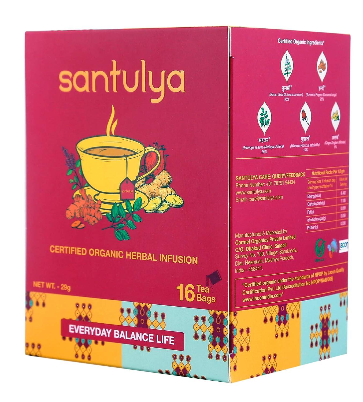 Santulya Organic Herbal Infusion Tea Bags 16 Amazon Grocery