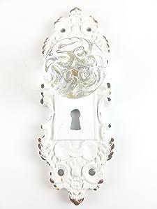 Tripar Decorative Pewter Wall Hook, Vintage Door Knob Style (Cream/White), 1 Piece Small