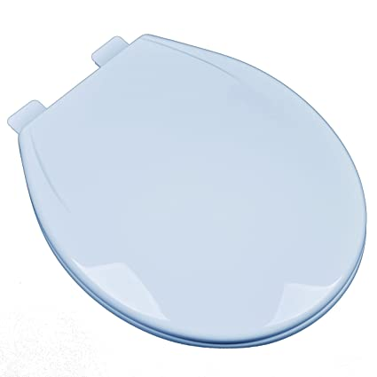 Stupendous Bath Decor 2F1R6 40 Slow Close Plastic Round Top Mount Adjustable Release And Clean Hinge Toilet Seat Dresden Blue Pdpeps Interior Chair Design Pdpepsorg