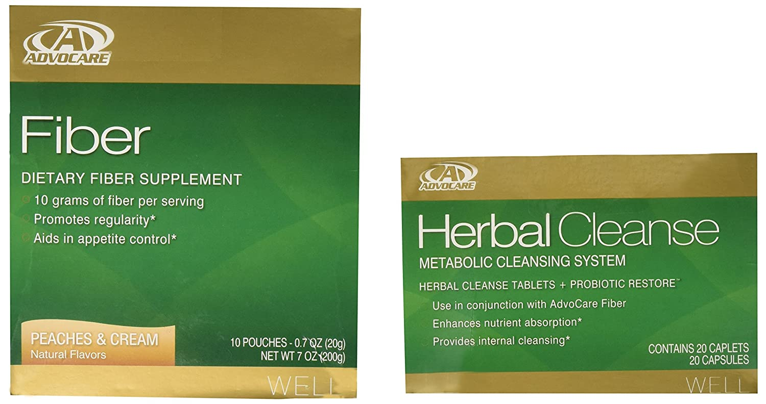 Amazon Advocare Herbal Cleanse Fiber Peaches Cream Kit