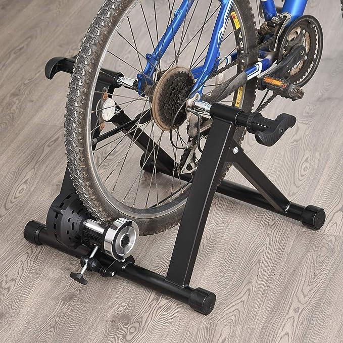 HOMCOM Rollos/Entrenamiento de Bicicleta estática con Freno magnético, Negro, 5661 – 0060: Amazon.es: Deportes y aire libre