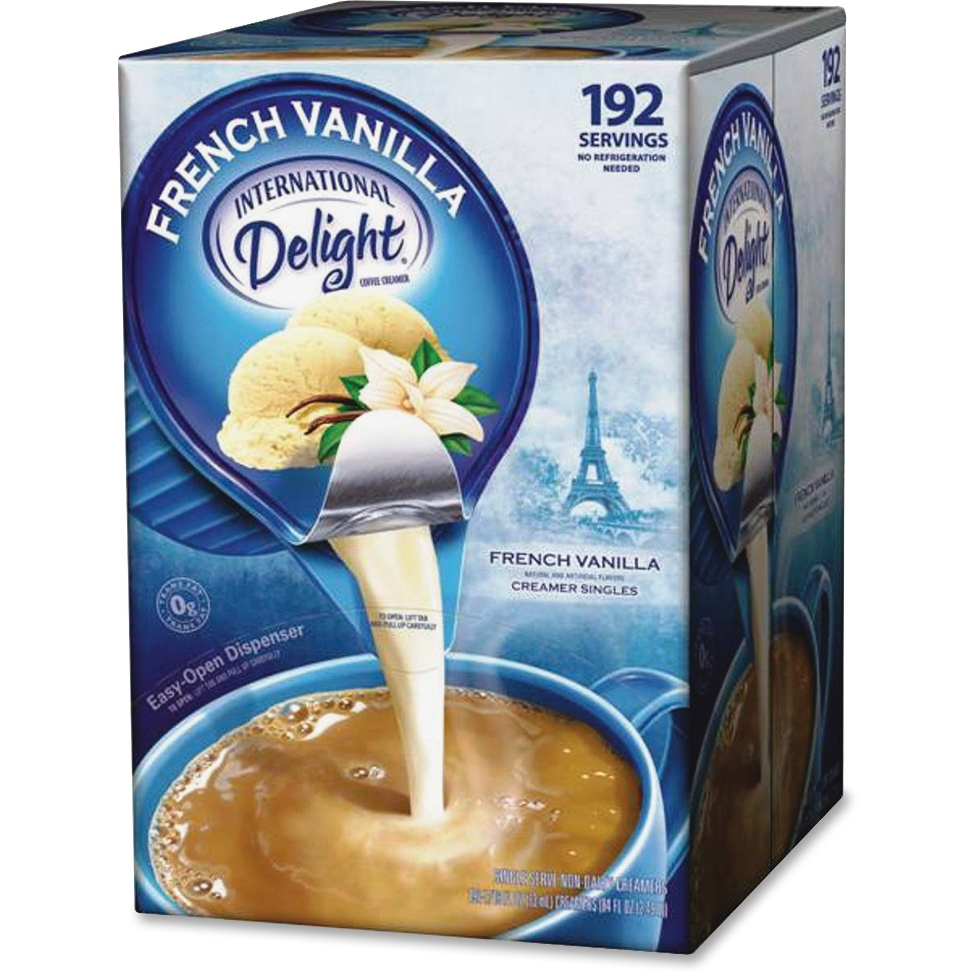 WhiteWave 100708 Liquid Coffee Creamer Int Delight .5oz 192/CT French Vanilla