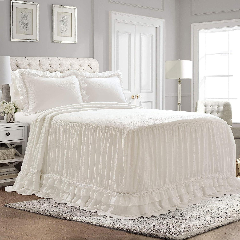 Ruffle Skirt 3-Piece Bedspread Set