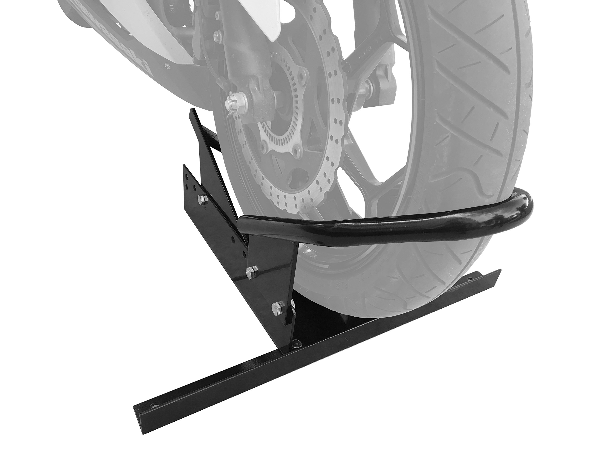 MaxxHaul 80077 Standard Motorcycle Wheel Chock with Pivoting Cradle