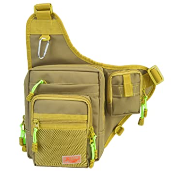 Amazon.com: Piscifun Fishing Tackle Bag Fishing Backpack Soft ...