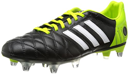 6aa56a9390b Adipure 11 Pro XTRX SG Football Boots Black Running White Solar Slime - size