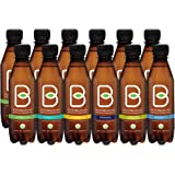 B-tea Kombucha Raw Organic Tea, Only 2 g of Sugar/Probiotics/Prebiotic, Promotes Healthy Weight Loss, Kosher, 12 Piece x 8 oz.