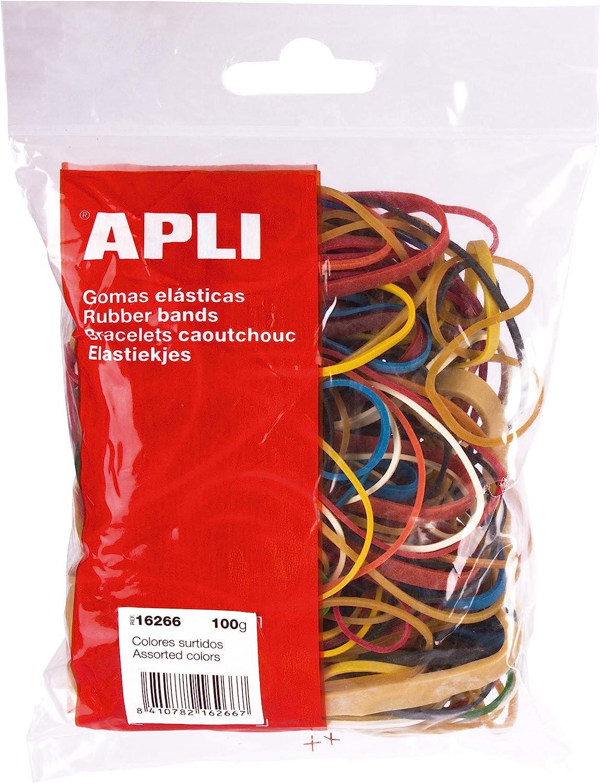 APLI 13355 confezione da 100 g Elastici 80 x 2 mm