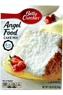 Amazon betty crocker super moist fat free cake mix angel food betty crocker white angel food cake mix pack of 3 16oz boxes forumfinder Image collections