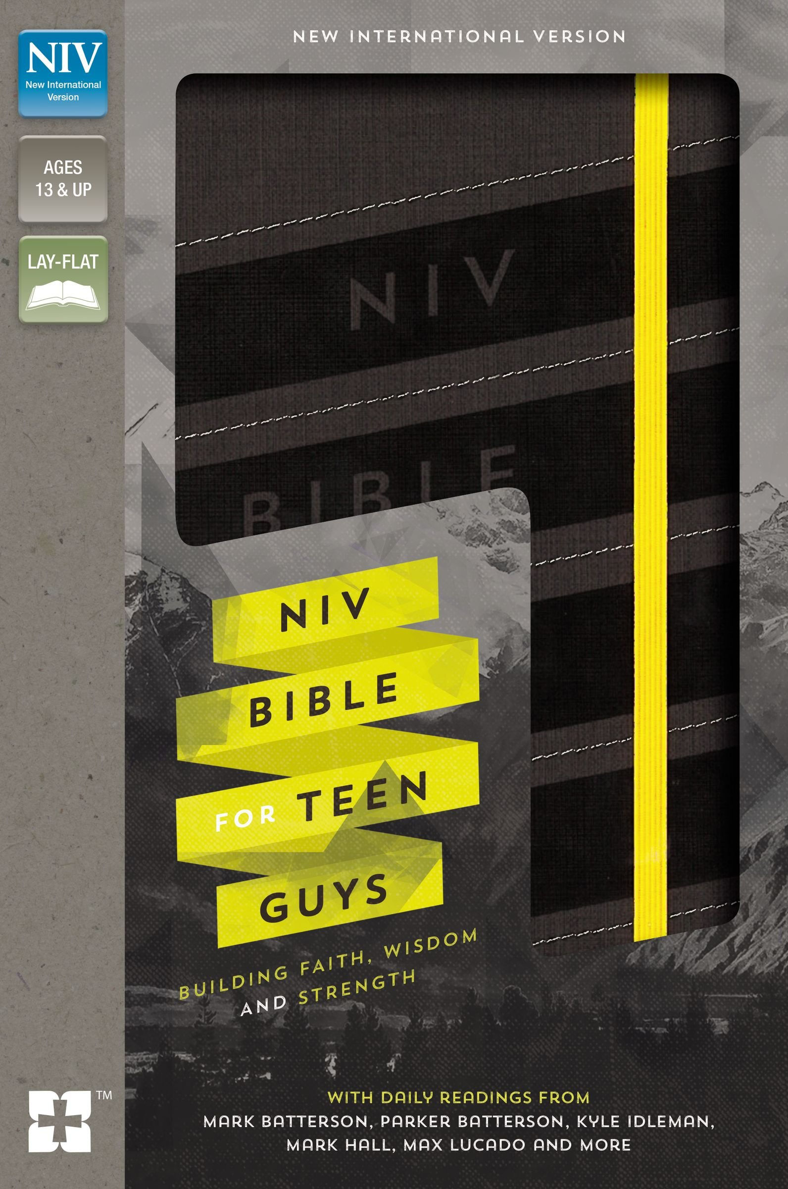 NIV, Bible for Teen Guys, Leathersoft, Charcoal, Elastic Closure: Building Faith, Wisdom and Strength by HarperCollins Christian Pub.