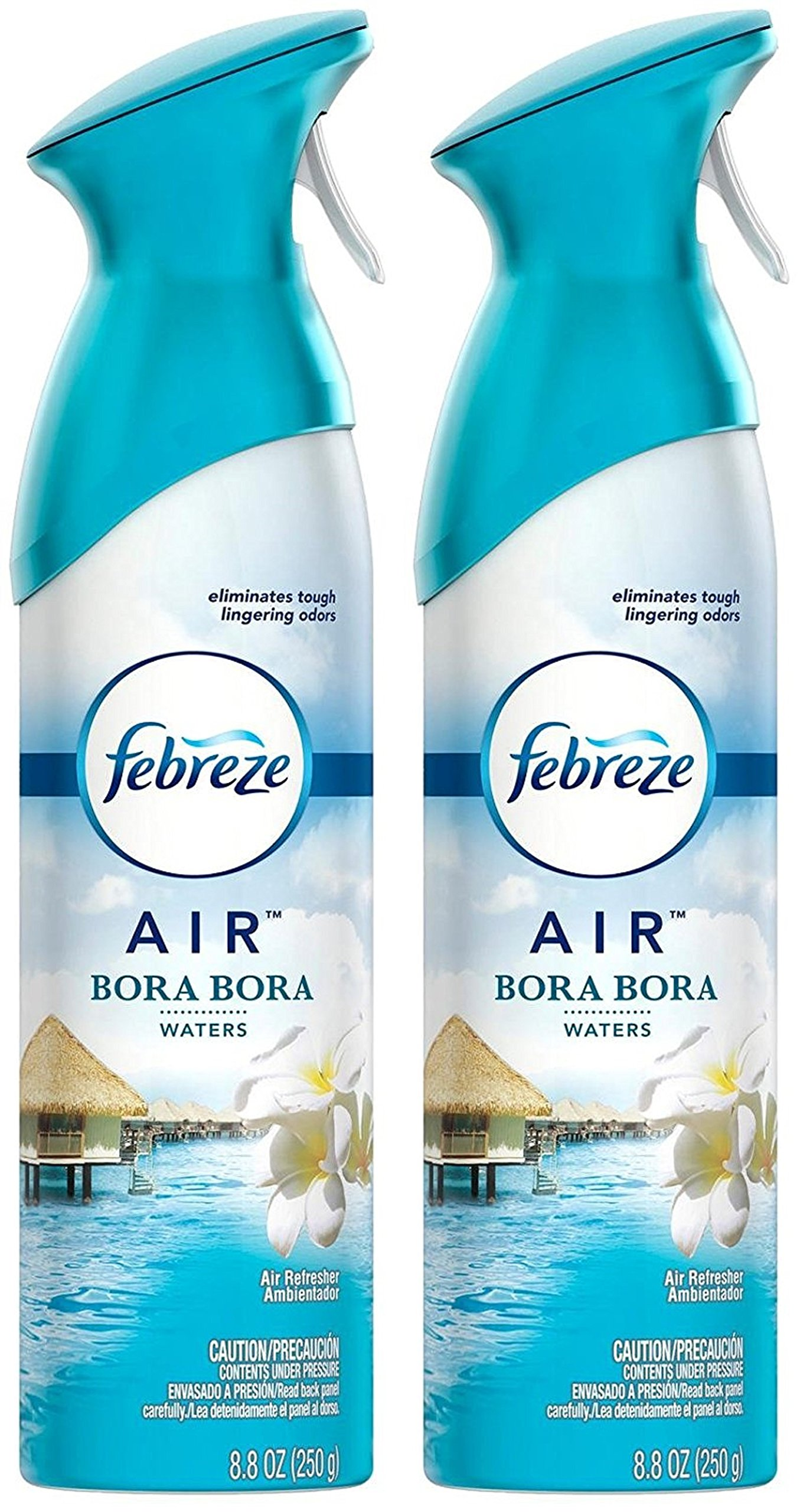 Febreze Air Refresher Spray - Bora Bora Waters - Net Wt. 8.8 OZ Per Bottle - Pack of 2 Bottles