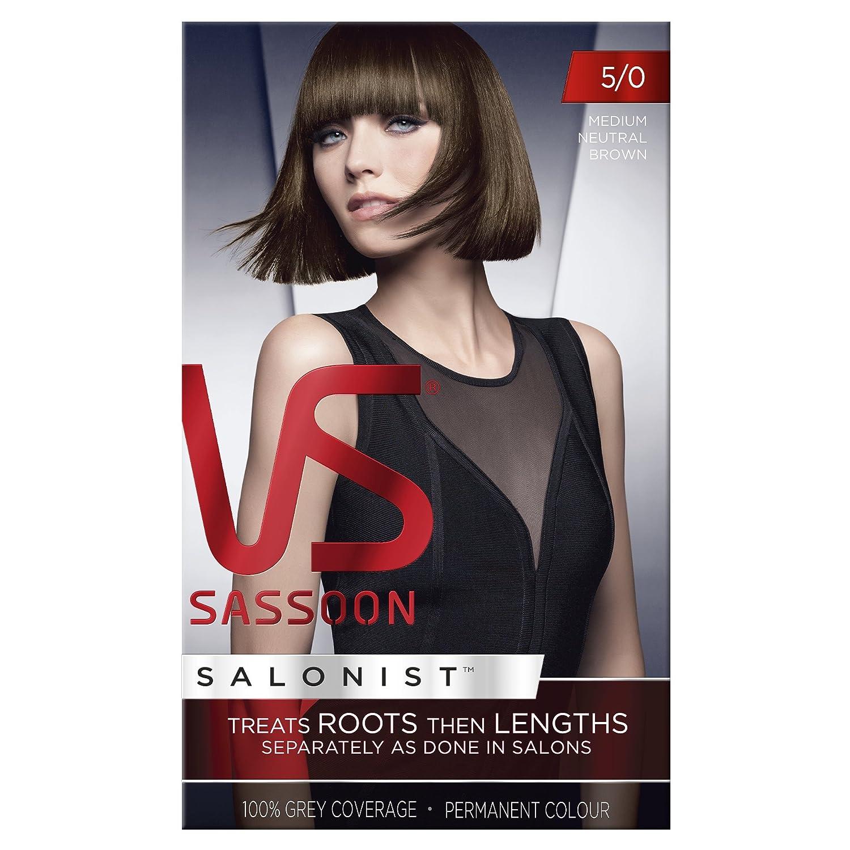 Vidal Sassoon Salonist Hair Colour Permanent Color Kit 50 Medium