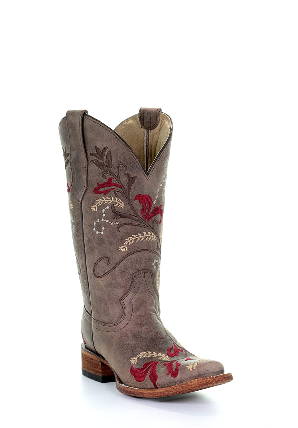 c8152512a87 Details about Corral Circle G Women's Floral Embroidery Square Toe Leather  Cowgirl Boots -...