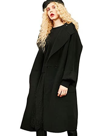 8371b38212ee Amazon.com  Elf Sack Women Wool Blend Pea Coat