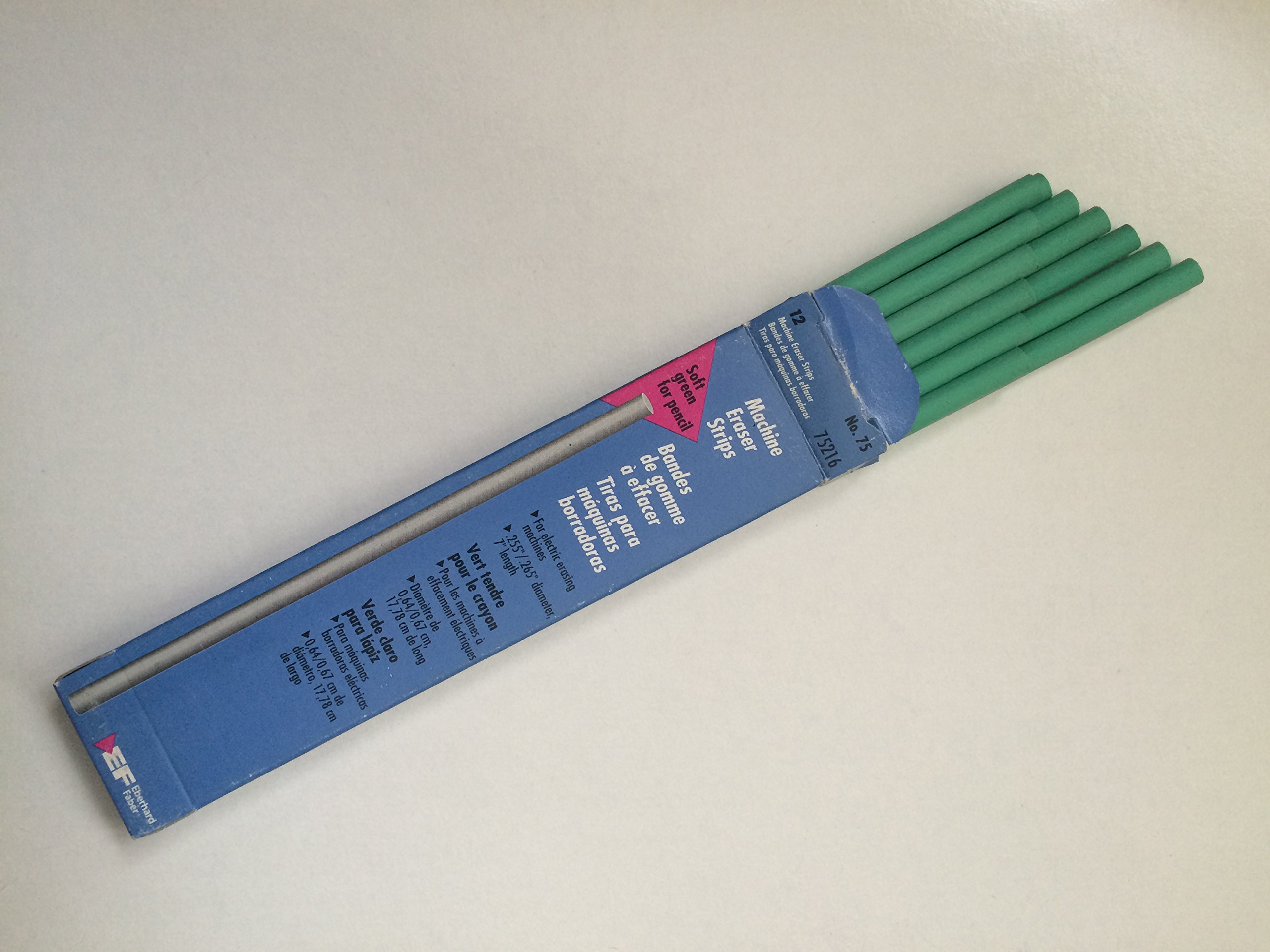 Machine Eraser Strips No.75 (75216) ''soft green for pencil'' by Eberhard Faber (Image #1)