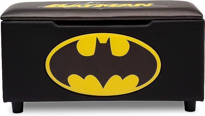 DC Comics Batman Banco de almacenamiento tapizado para niños   perfecto para dormitorios/salas de juegos/salas de estar   cuenta con gráficos divertidos de Batman: Amazon.es: Hogar