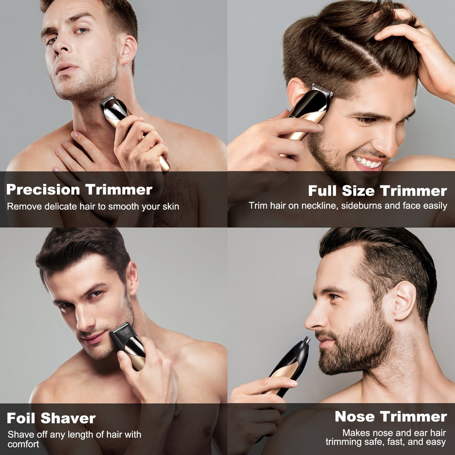 Professional 8 In 1 Electric Blade Mens Trimmer Of Body Ear
