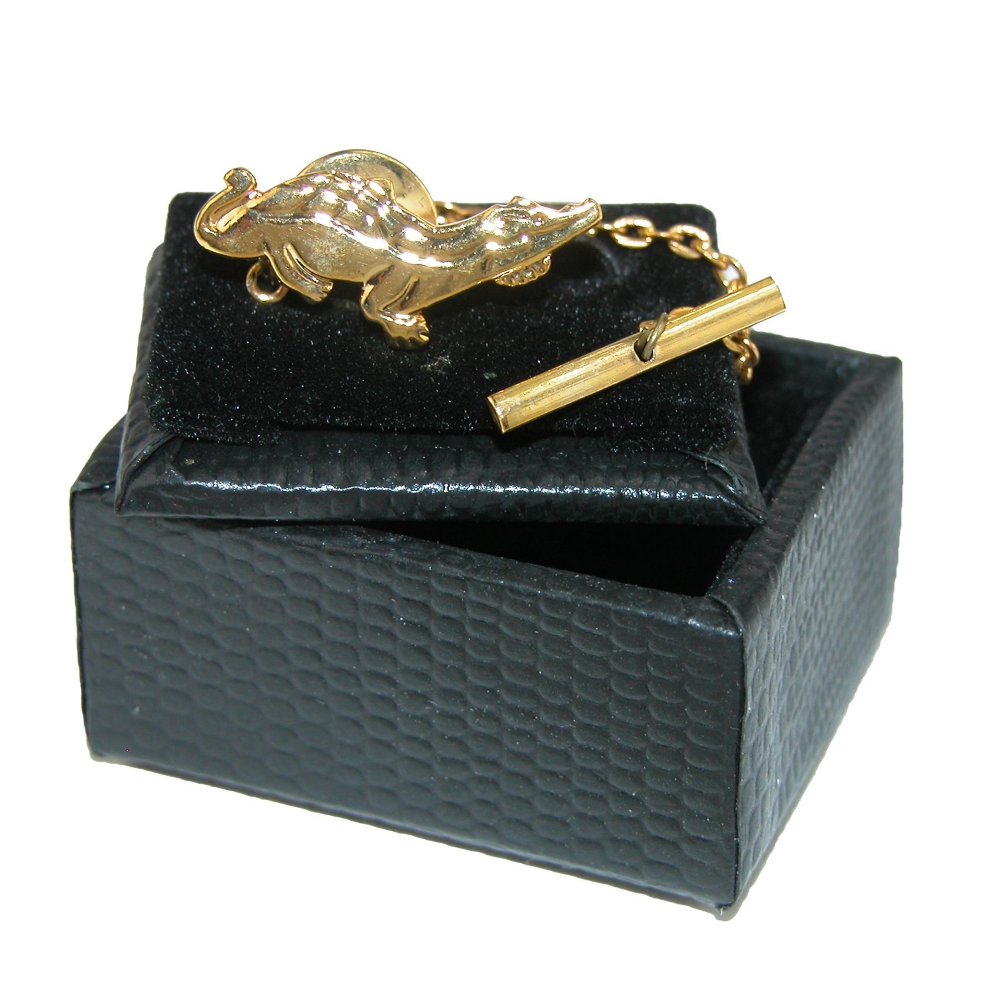 Cuffs New York Men's Alligator Tie Tac, Gold by Cuffs New York (Image #3)