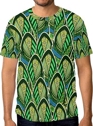 Camiseta de manga corta para hombre, diseño de plumas de ...