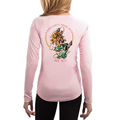 3a611bfc SUN. Mermaid Women's UPF 50+ Long Sleeve T-Shirt at Amazon Women's Clothing  store: